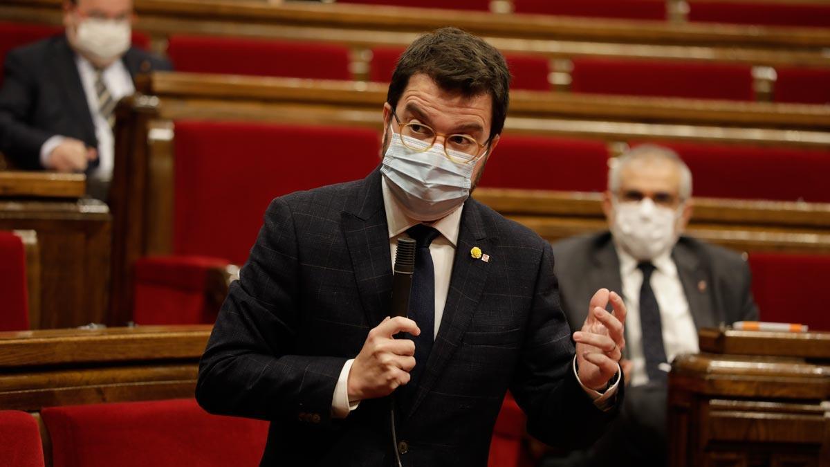 Pere Aragonès pide que no se haga caso de las filtraciones del plan de desescalada.