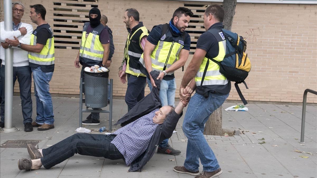 Disturbios en el barrio de Cappont de Lleida.