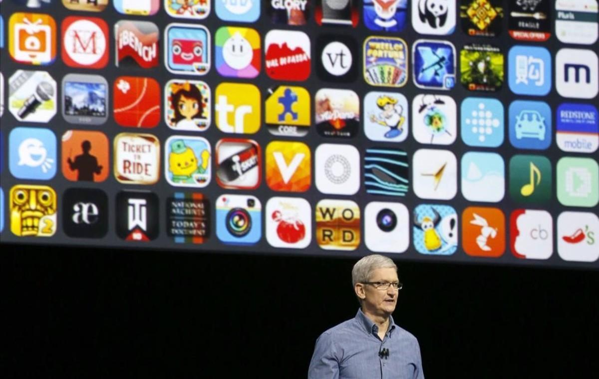 Tim Cook, en la conferencia de desarrolladores de Apple de San Francisco.