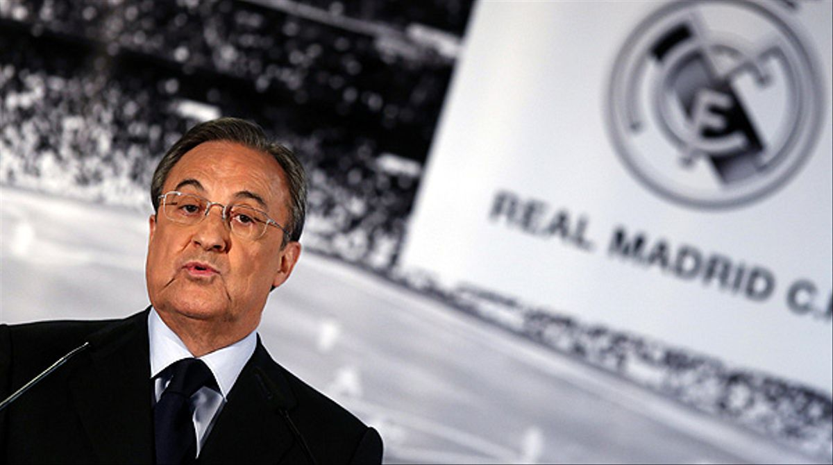 Florentino Pérez, presidente del Madrid.