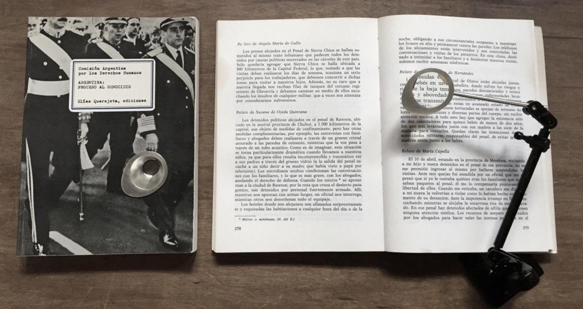Detalle de la instalación de Nora Ancarola 'La inocencia del mal', de la serie 'Momentos de plata', adquirida por el Ayuntamiento de Barcelona.