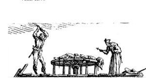 Un condenado es azotado en presencia de un capellán, como ocurrió, por ejemplo, el 2 de septiembre del 1501.