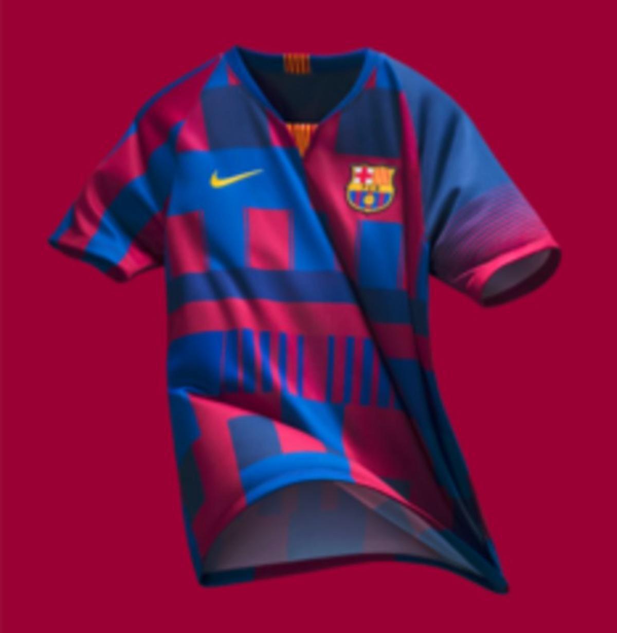 La camiseta del FC Barcelona, de Nike.