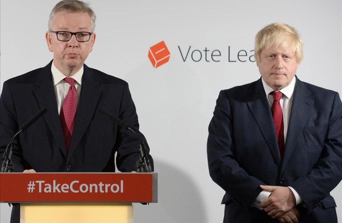Michael Gove (izquierda) y Boris Johnson, en una imagen de archivo.