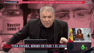 """Ferreras responde a las risas en la red por un cómico momento en 'Al rojo vivo': """"Un poquito de seriedad"""""""