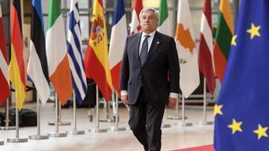 El presidente del Parlamento Europeo, Antonio Tajani, en Bruselas.