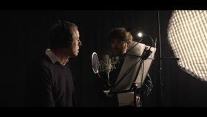 Rosell y Évole durante la grabación del programa.
