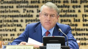 El actual presidente de RTVE, José Antonio Sánchez, en una comparecenciaen la Comision Mixta de Control Parlamentario de la corporacion y sus sociedades.
