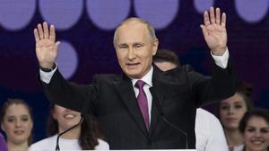 Putin, en un acto en Moscú.