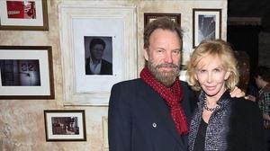 Sting y su mujer, Trudie Styler, este jueves en Nueva York.