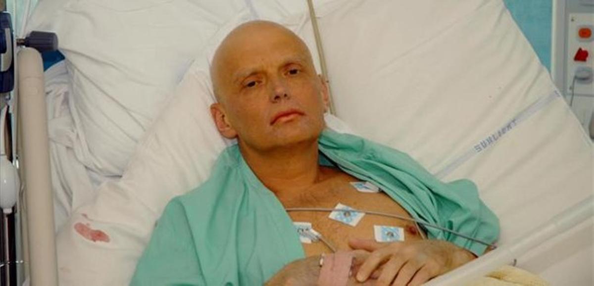 Alexander Litvinenko, en la cama de un hospital de Londres, el 20 de noviembre del 2006.