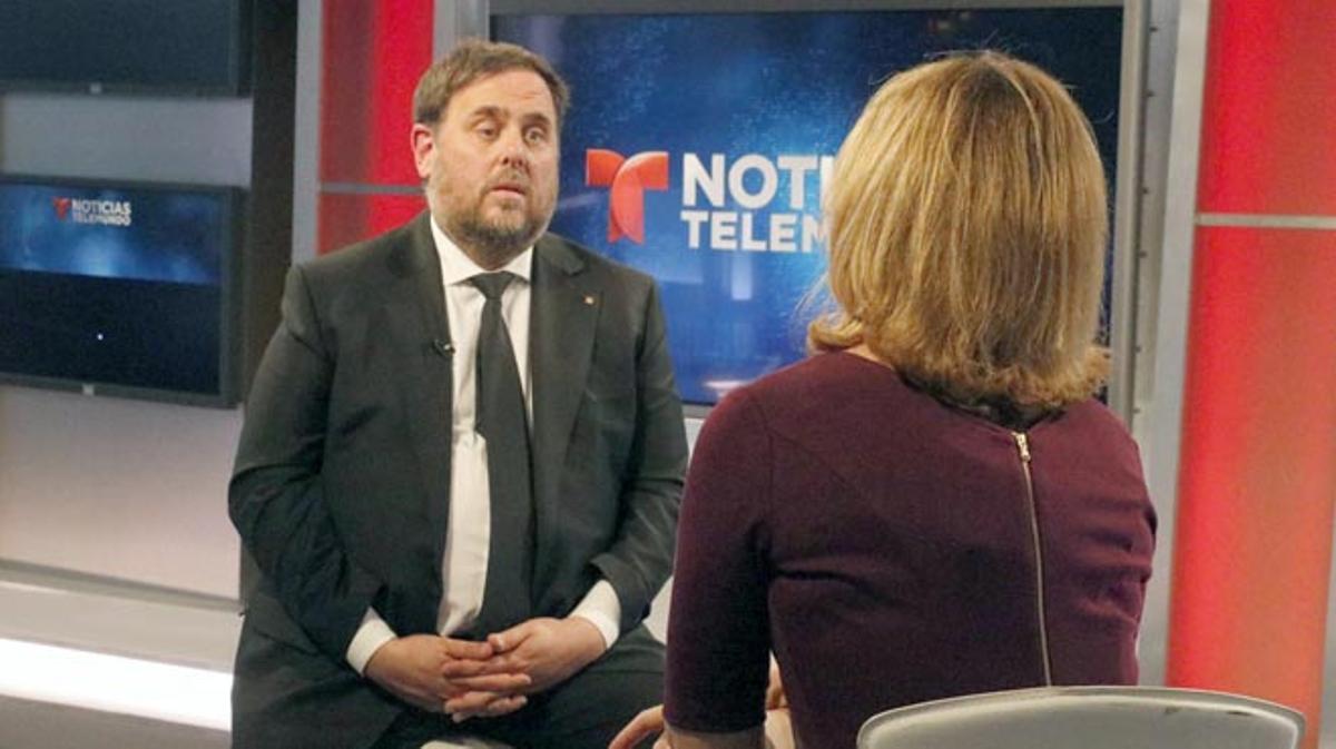 Oriol Junqueras, entrevistat per Noticias Telemundo, i trobada amb la comunitat catalana de Miami.