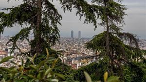Vistas de Barcelona desde el Turó del Putxet.