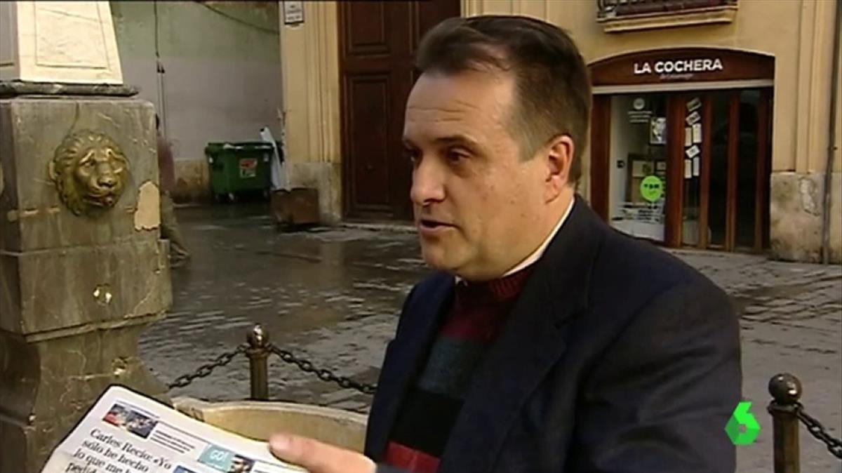 Carles Recio, el funcionario de la Diputación de Valencia despedido por no ir a trabajar durante 10 años.