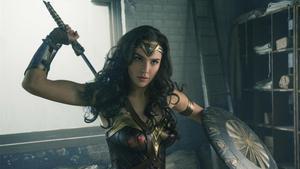 La actriz Gal Gadot en la primerpelícula de la saga'Wonder Woman' (2017)