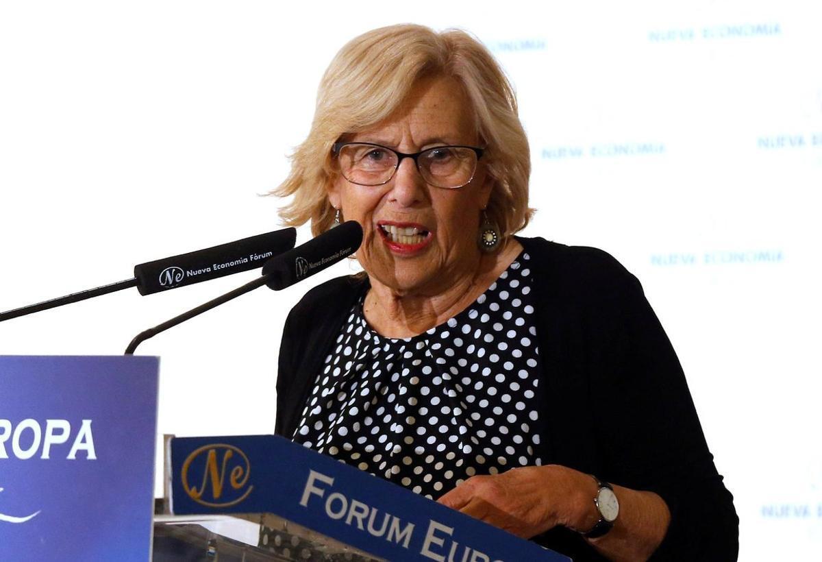 La alcaldesa de Madrid y candidata de Más Madrid al Ayuntamiento de capital, Manuela Carmena.