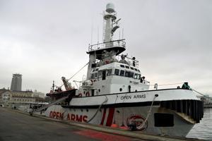 El buque Open Arms de la ONG homónima de Badalona.