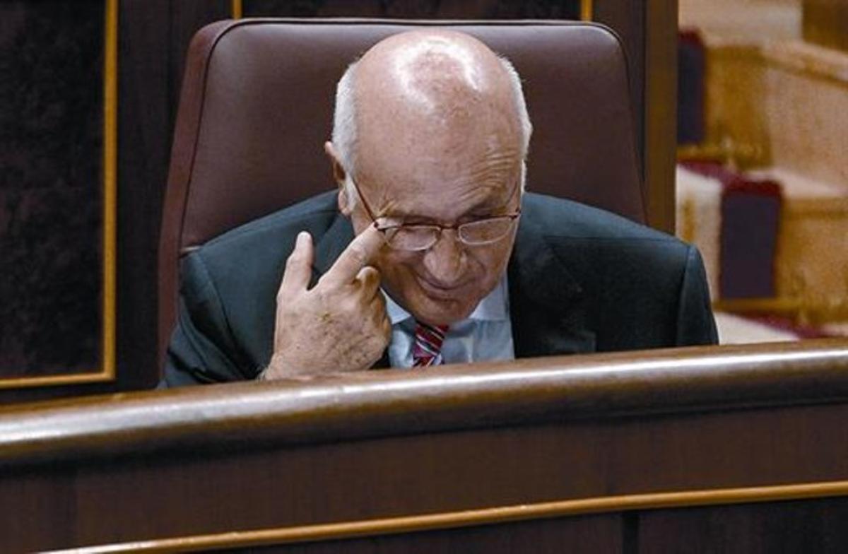 El líder de Unió, Josep Antoni Duran Lleida, ayer en el Congreso de los Diputados.