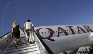Un avión de la compañía aérea Qatar Airways