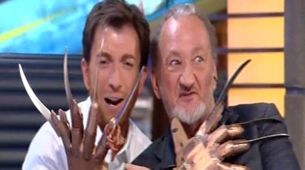 Robert Englund, con Pablo Motos en 'El hormiguero' (A-3 TV).