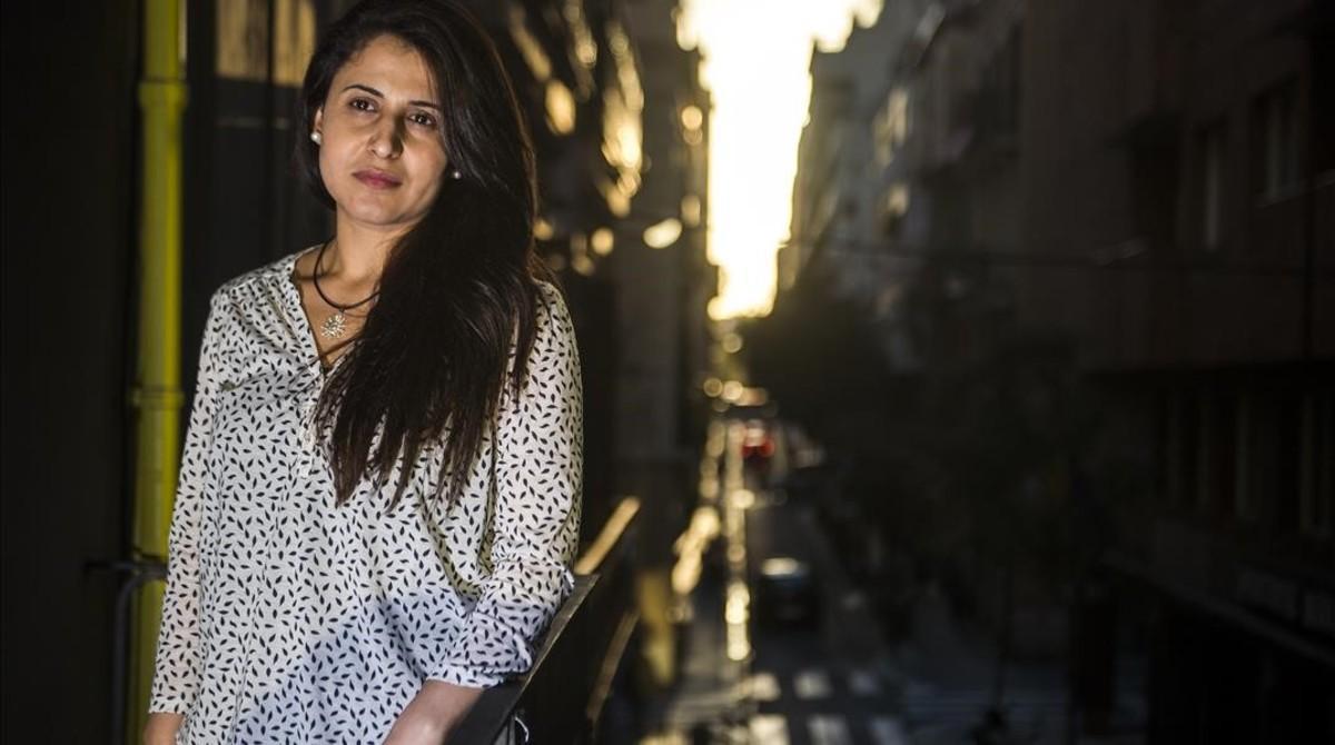 Nareen Shammo, en la sede de Amnistía Internacional, durante una visita reciente a Barcelona.