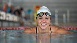 Catalina Corró, en la piscina de Can Llong, del CN Sabadell