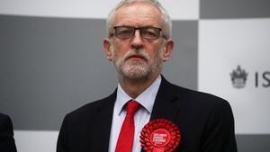 Jeremy Corbyn, tras conocer el alcance de la derrota.