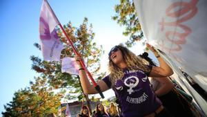 Concentración feminista en Barcelona en el 2018.