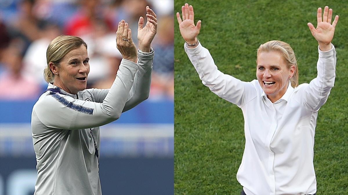 Las dos entrenadoras de la final de Francia-2019: Ellis y Wiegman.