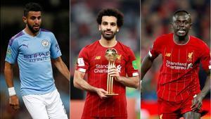 Mahrez , Salah y Mané.