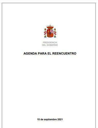 La agenda para el reencuentro del Gobierno con Catalunya (15 septiembre 2021)
