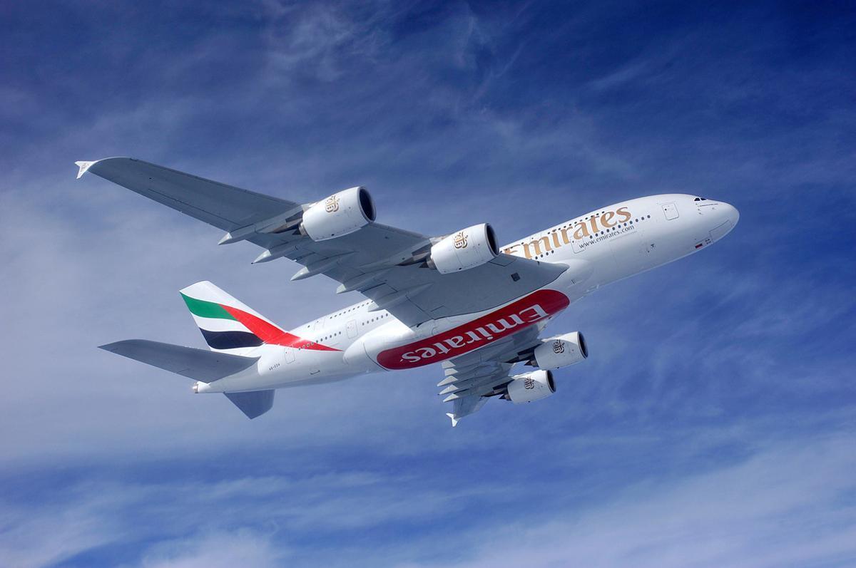 El A380 de Emirates.