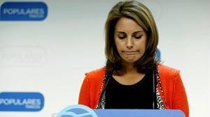 Arantza Quiroga anuncia la seva dimissió com a presidenta del PP del País Basc.