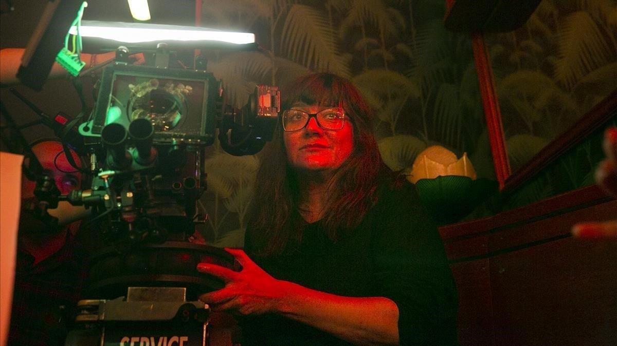 Isabel Coixet, durante el rodaje de la serie 'Foodielove'.