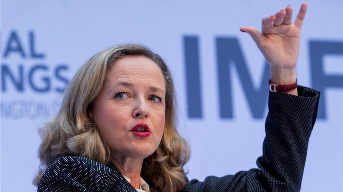 La vicepresidenta y ministra de Economía,Nadia Calviño.
