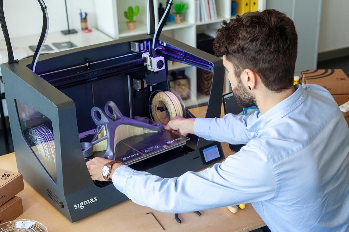 Una impresora 3D de BCN3D.