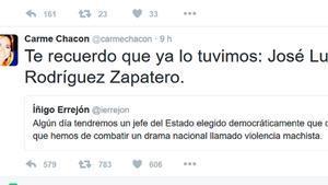 Ficada de pota de Carme Chacón a Twitter