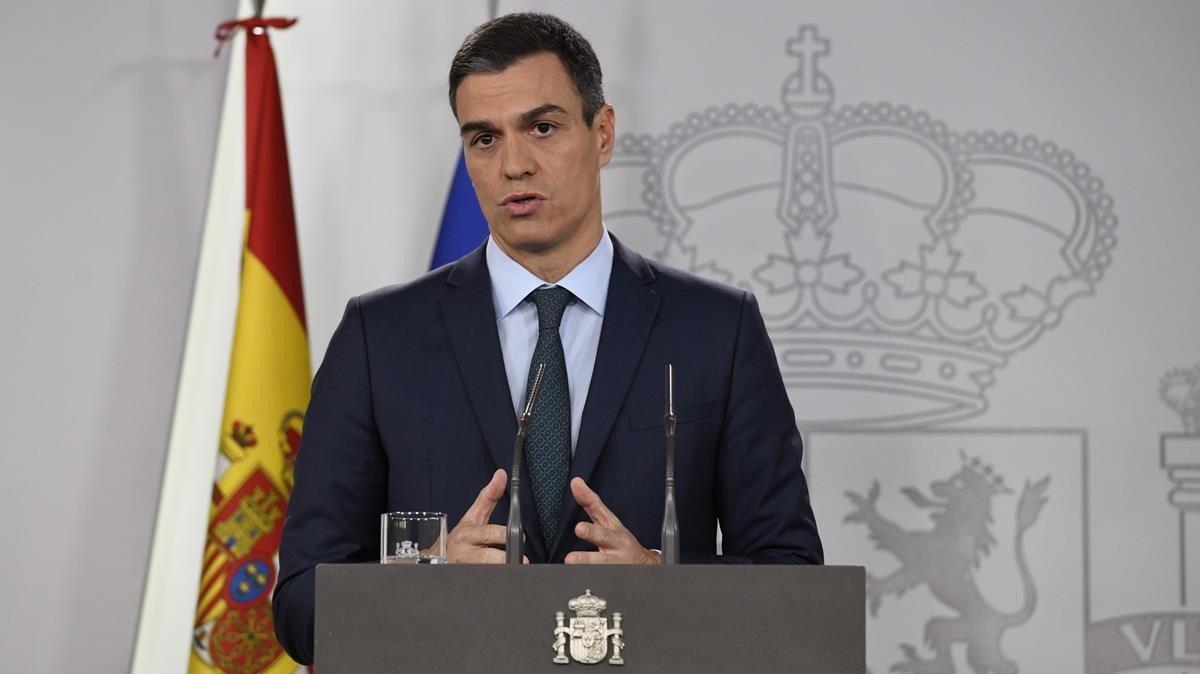 Pedro Sánchez comparece para dar un ultimátim a Nicolás Maduro.
