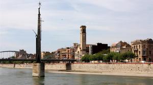 El Ebre a su paso por Tortosa.