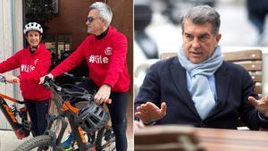Víctor Font y Joan Laporta.