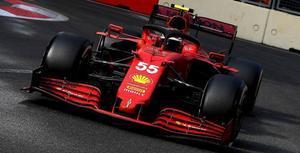El Ferrari de Carlos Sainz.
