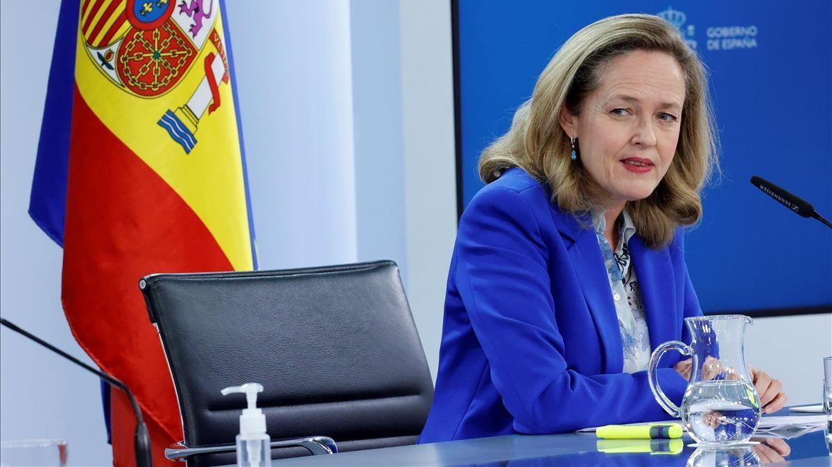 La vicepresidenta económica, Nadia Calviño.