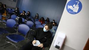 Estudiantes, en la Universitat de Barcelona, el pasado octubre.