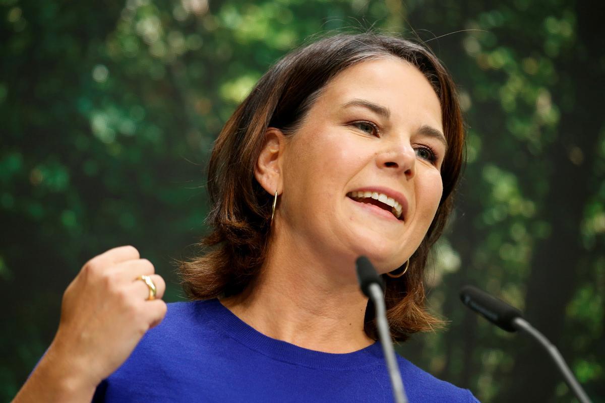 La candidata de Los Verdes,Annalena Baerbock.
