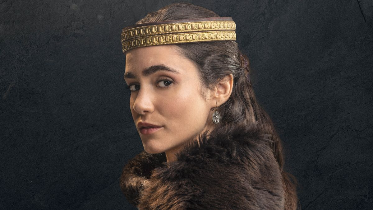 Alicia Sanz, caracterizada como Urraca en 'El Cid'.