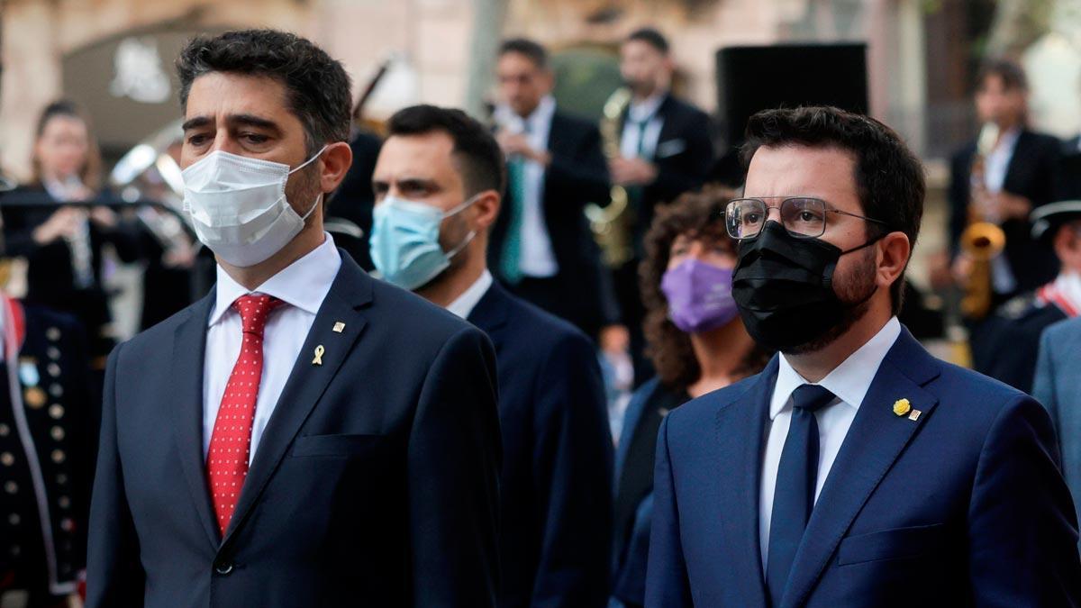Jordi Puignerò y Pere Aragonès.