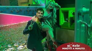 Mahi y Rafa tras proclamarse ganadores de la segunda edición de 'La casa fuerte'.