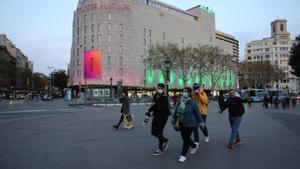 Fachada de El Corte Inglés de la plaza de Catalunya de Barcelona