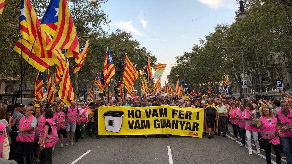 Manifestación de la ANC, en Barcelona.