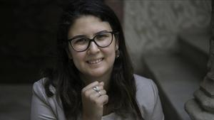 La investigadora egipcia Mariam Mecky en Barcelona.